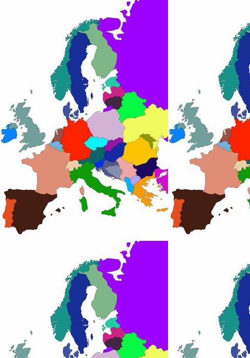 Tapeta Pixerstick Barevné ilustrace mapy Evropy na bílém pozadí - Doplňky a věci