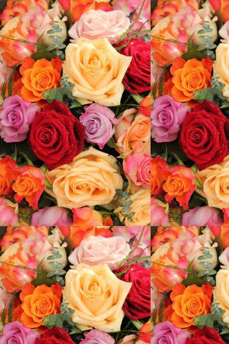 Tapeta Pixerstick Barevné kytice - Květiny