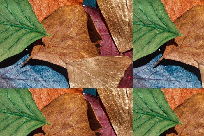Vinylová Tapeta Barevné listí - Struktury
