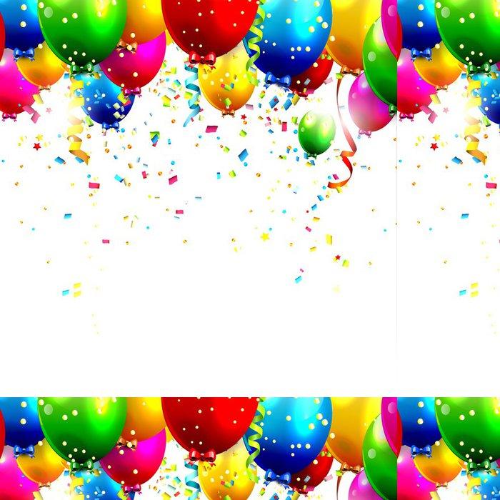Vinylová Tapeta Barevné narozeniny balónky a konfety - vector pozadí - Slavnosti