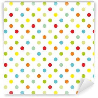 Vinylová Tapeta Barevné puntíky bílé pozadí bezešvé vzor vektoru