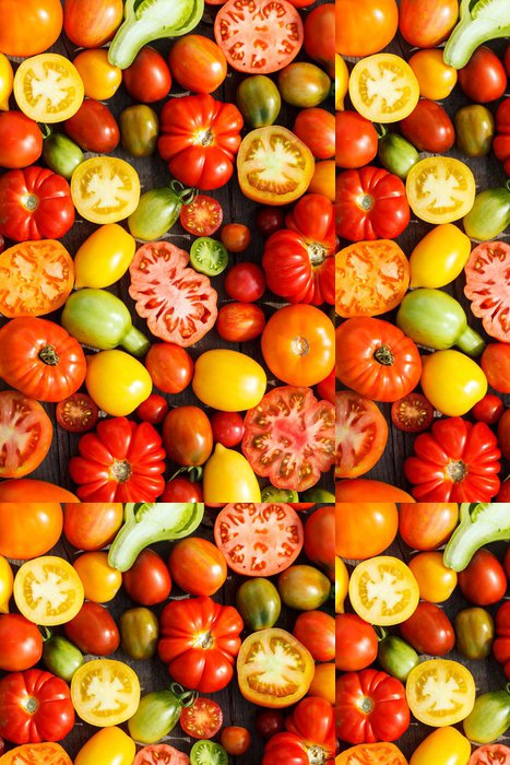 Tapeta Pixerstick Barevné rajčata - Témata
