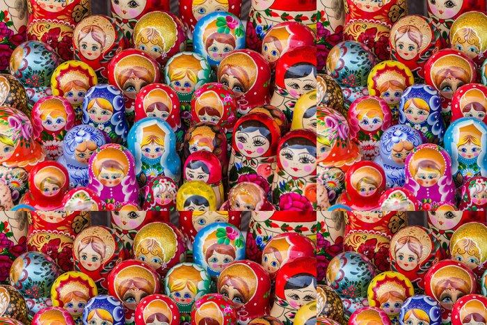 Vinylová Tapeta Barevné ruské dřevěné panenky - Asie