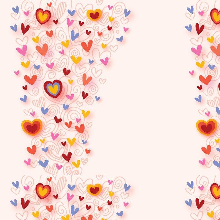 Tapeta Pixerstick Barevné srdce pozadí - Štěstí