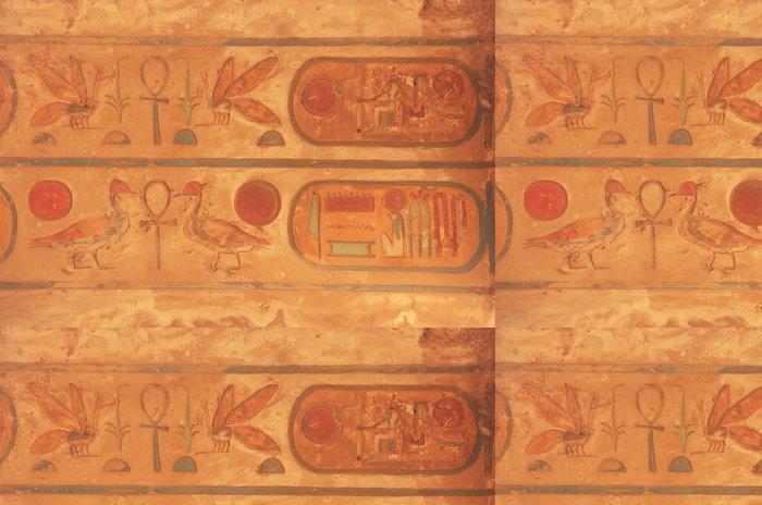 Tapeta Pixerstick Barevné stropní řezbářství, Karnak chrámový komplex, Luxor - Afrika