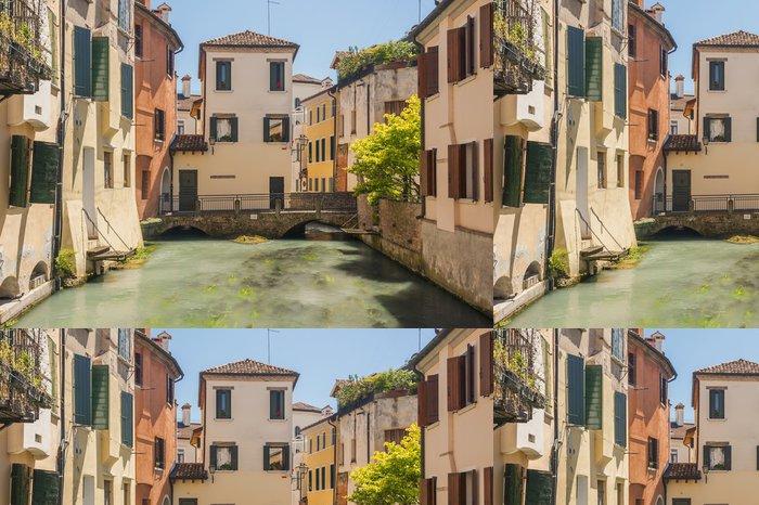 Tapeta Pixerstick Barevné ulice Treviso Itálie - Město