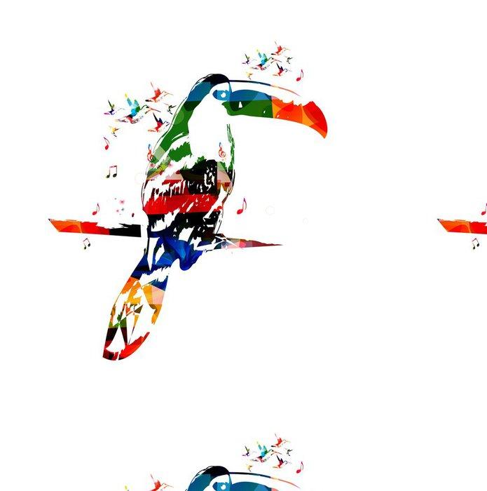 Tapeta Pixerstick Barevné vektorové tukan pozadí s kolibříky - Jiné pocity