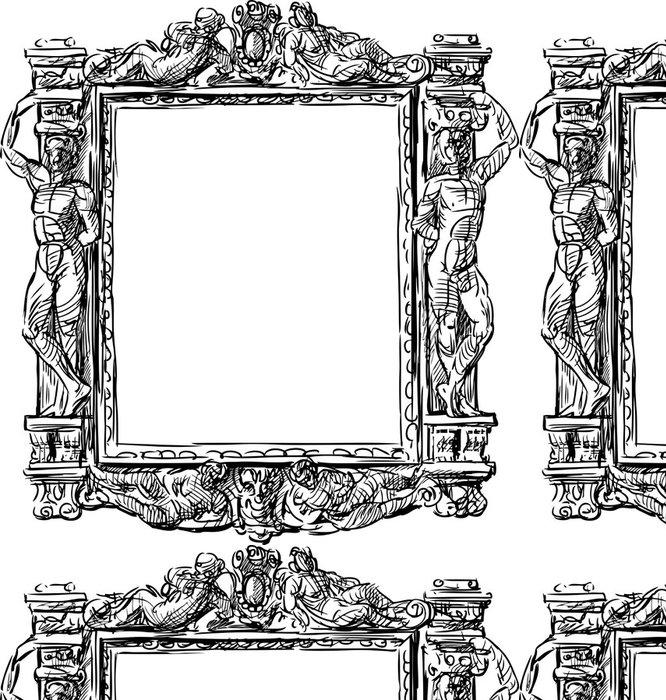 Vinylová Tapeta Barokní rám - Veřejné budovy