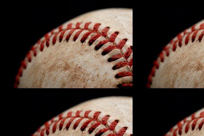 Tapeta Pixerstick Baseball makro nad černou - Týmové sporty