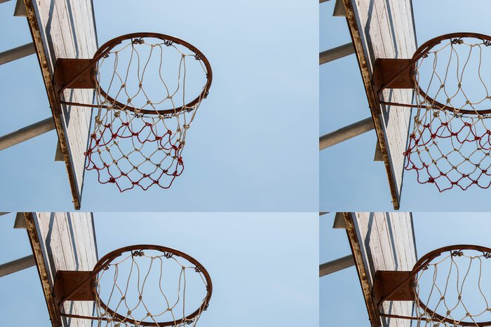 Tapeta Pixerstick Basketbal cíl a net - Basketbal