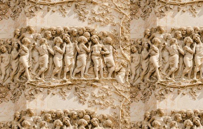 Tapeta Pixerstick Basrelief, před katedrálou, Orvieto, Itálie - Veřejné budovy