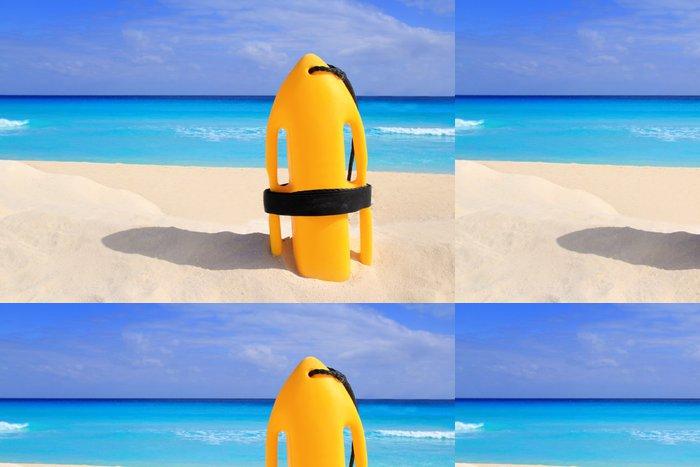 Tapeta Pixerstick Baywatch záchranné bóje žluté na tropické pláži - Amerika