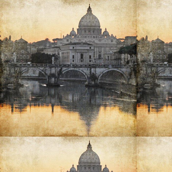 Tapeta Pixerstick Bazilika San Pietro. Řím. retro stylu obrázek - Témata
