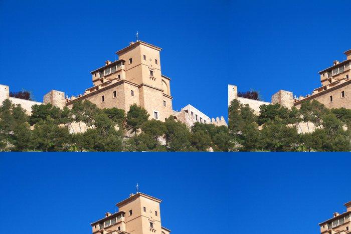 Tapeta Pixerstick Bazilika svatého Kříže a stěny Caravaca Murcia - Veřejné budovy