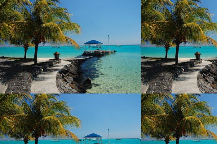 Tapeta Pixerstick Beach chodník podél exotické pláži v tropické letovisko - Prázdniny
