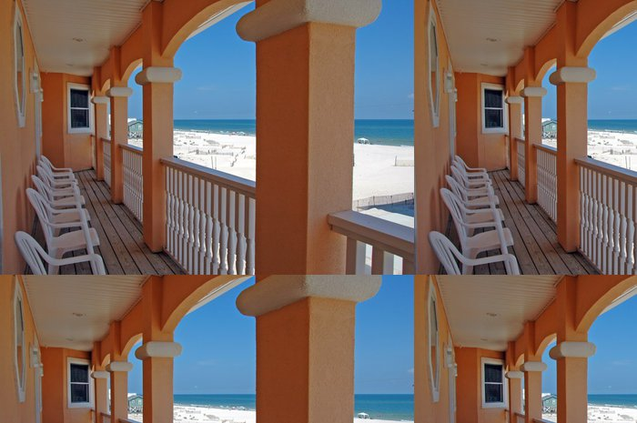 Tapeta Pixerstick Beach House Balkon - Prázdniny