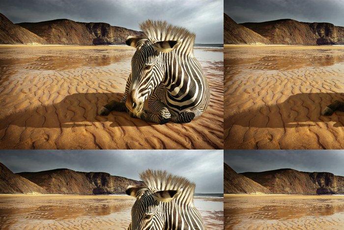 Tapeta Pixerstick Beach Zebra - Témata