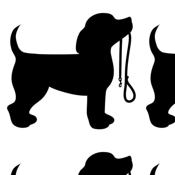 Tapeta Pixerstick Beagle Leash - Nálepka na stěny