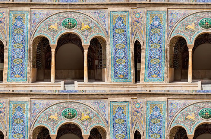 Tapeta Pixerstick Beautyful mozaika oblouk Golestan palác,, Teherán, Írán - iStaging