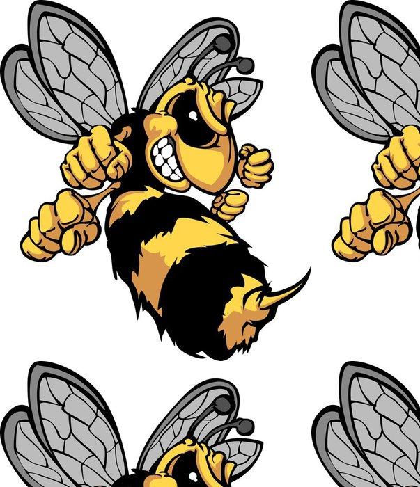 Vinylová Tapeta Bee Hornet Cartoon Obrázek - Nálepka na stěny