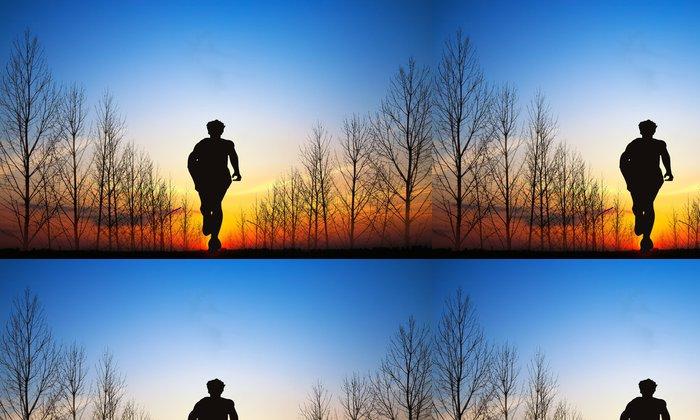 Tapeta Pixerstick Běh a západ slunce - Jiné pocity