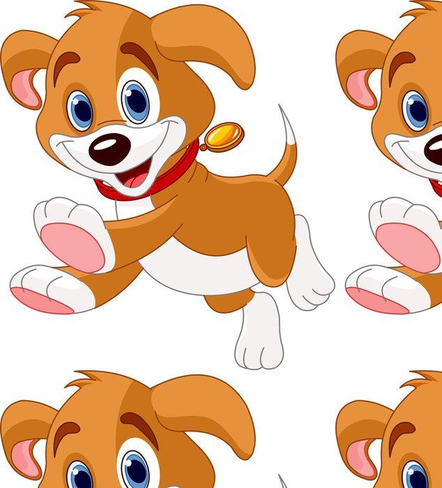 Tapeta Pixerstick Běh legrační štěně - Nálepka na stěny