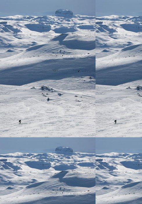 Tapeta Pixerstick Běh na lyžích v zimní krajině, Hardangervidda, Norsko - Evropa