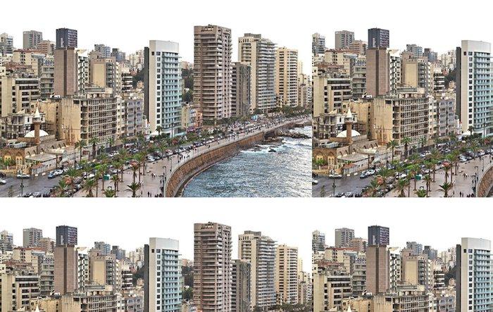 Vinylová Tapeta Bejrút Skyline na bílém pozadí - Střední Východ
