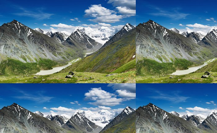 Tapeta Pixerstick Belukha- nejvyšší vrchol Sibiře - Nebe