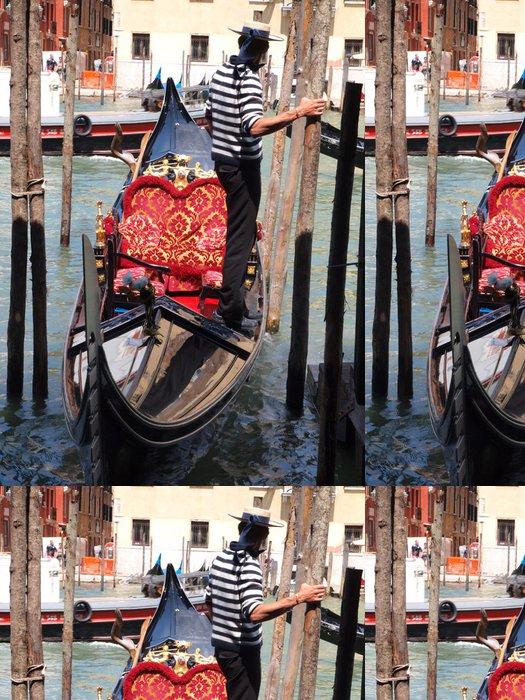 Tapeta Pixerstick Benátská gondola - Evropská města