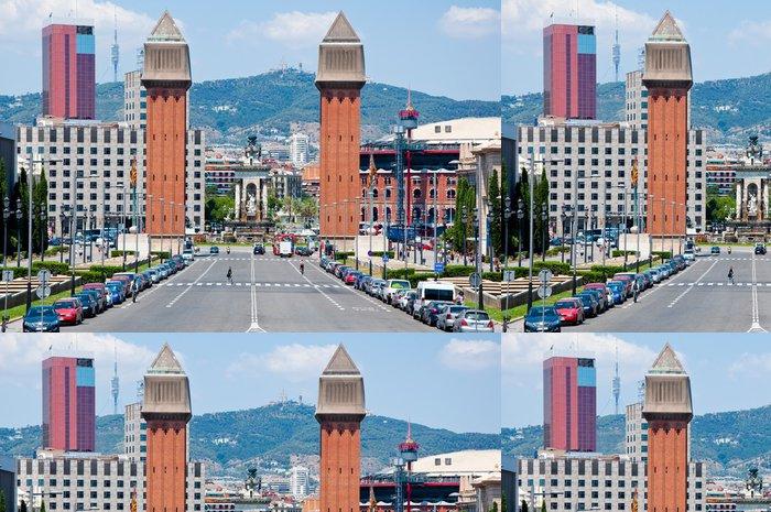Tapeta Pixerstick Benátské věže. Barcelona, Španělsko - Evropská města
