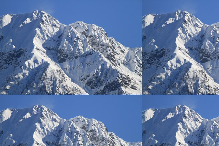 Vinylová Tapeta Berge in der Schweiz, Frühling. (Panorama, Teil 2) - Zimní sporty