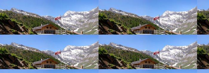 Tapeta Pixerstick Bergpanorama in den Ötztaler Alpen - Outdoorové sporty