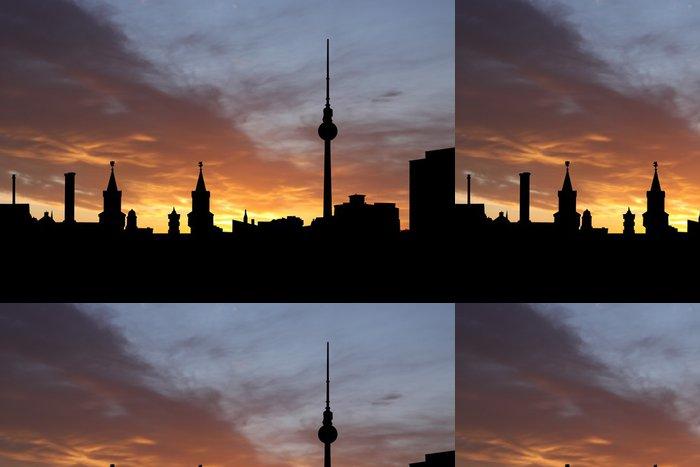 Tapeta Pixerstick Berlín Skyline při západu slunce - Evropská města