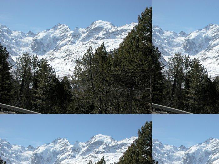 Tapeta Pixerstick Bernina - Zimní sporty