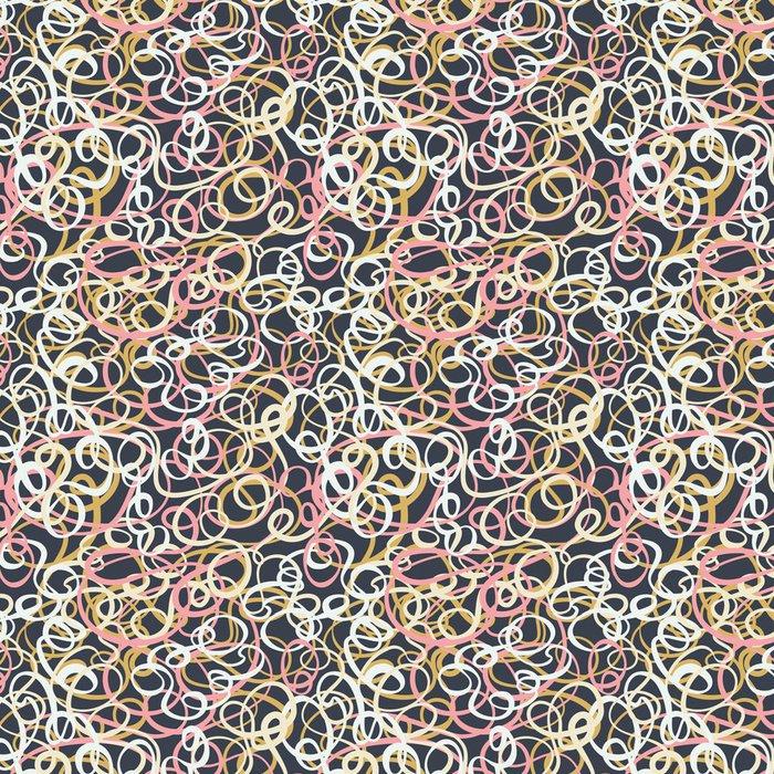 Tapeta Pixerstick Bezešvé abstraktní kudrnaté vlna vzor - Jiné pocity