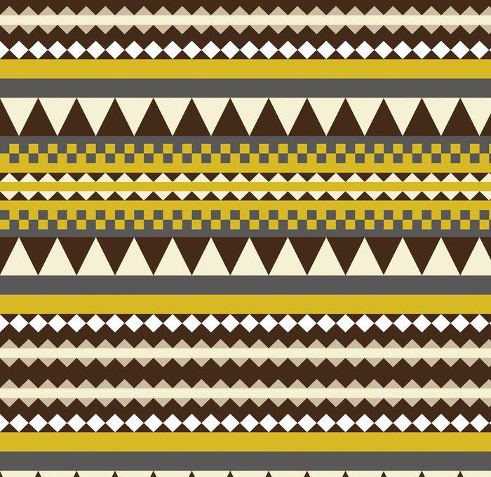 Tapeta Pixerstick Bezešvé aztécký vzor grafický - Styly