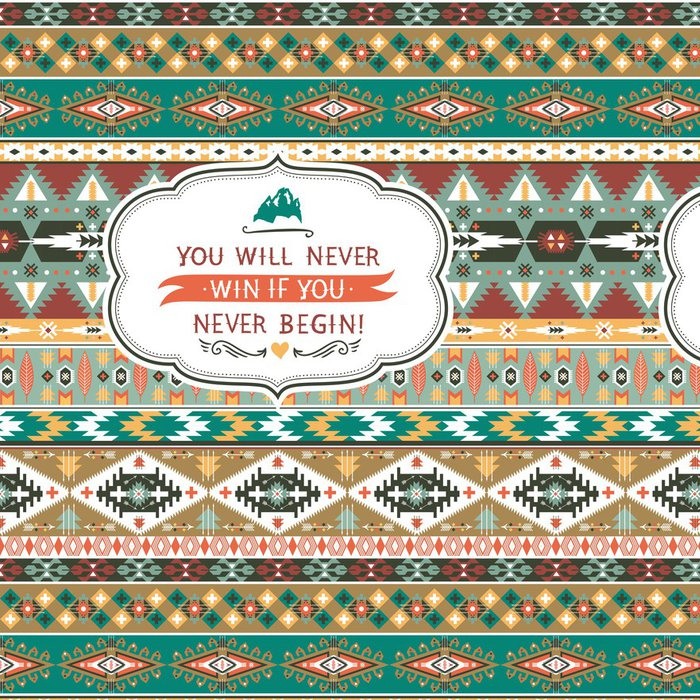 Vinylová Tapeta Bezešvé barevné aztécký vzor - Pozadí
