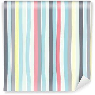 Vinylová Tapeta Bezešvé barevné pruhované vlna pozadí