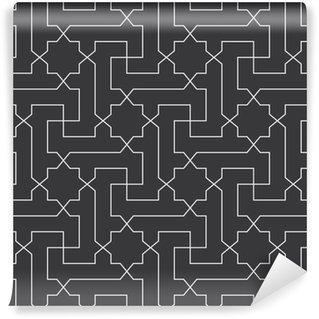 Vinylová Tapeta Bezešvé černé a bílé klasické arabštiny úhlopříčka kříž a hvězda vzor vektor
