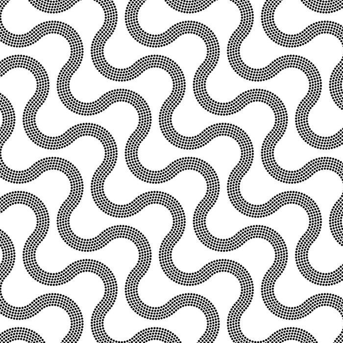 Tapeta Pixerstick Bezešvé Černobílý vzor - Pozadí
