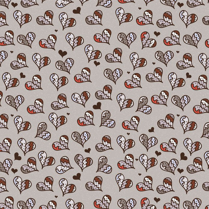 Tapeta Pixerstick Bezešvé dekorativní vzor se srdíčky - Mezinárodní svátky