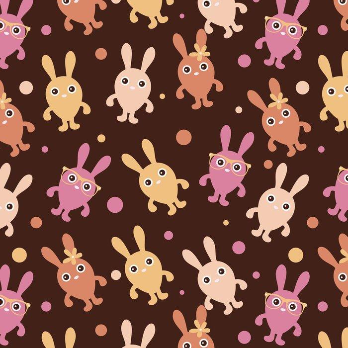 Tapeta Pixerstick Bezešvé dětinské vzor s roztomilé králíčky - Pozadí