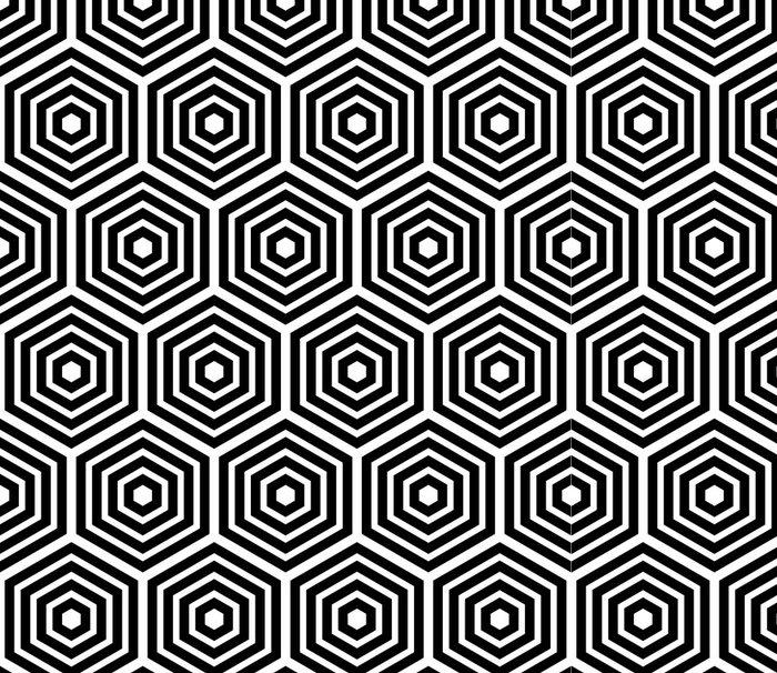 Tapeta Pixerstick Bezešvé hexagonální vzor - Pozadí