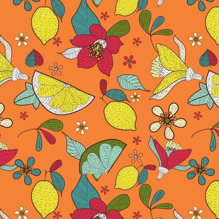 Tapeta Pixerstick Bezešvé květinové textury - Pozadí