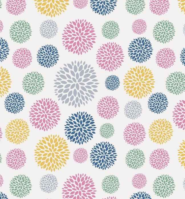 Tapeta Pixerstick Bezešvé květinový vzor květiny textura - Pozadí