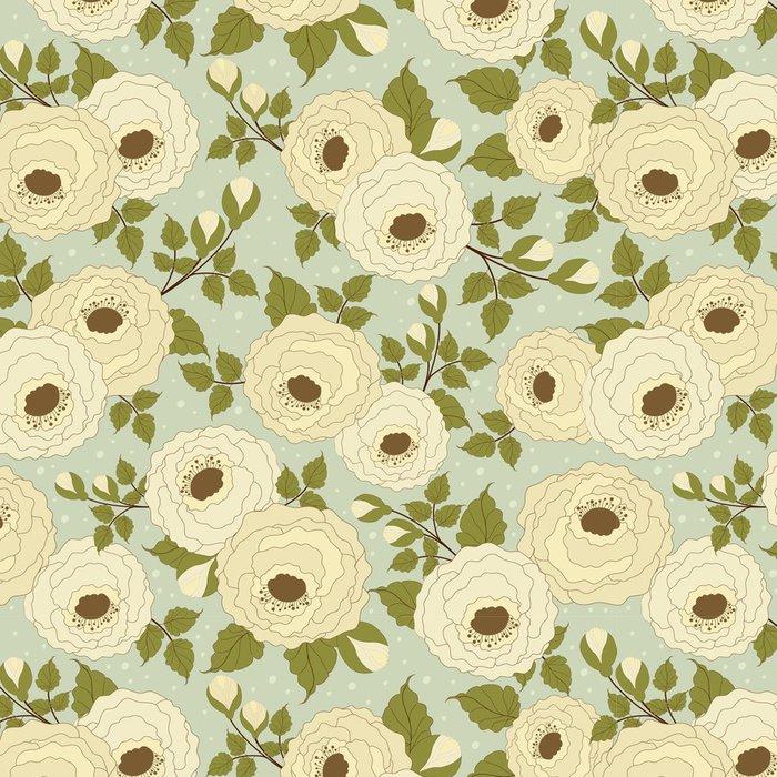 Tapeta Pixerstick Bezešvé květinový vzor - Květiny