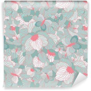 Vinylová Tapeta Bezešvé letní květinovým vzorem