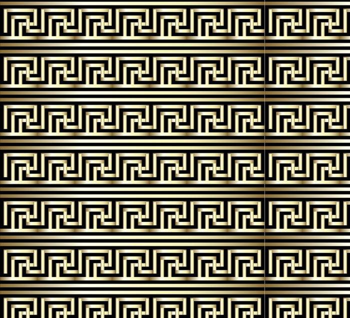 Tapeta Pixerstick Bezešvé Meander zlatým vzorem - Umění a tvorba