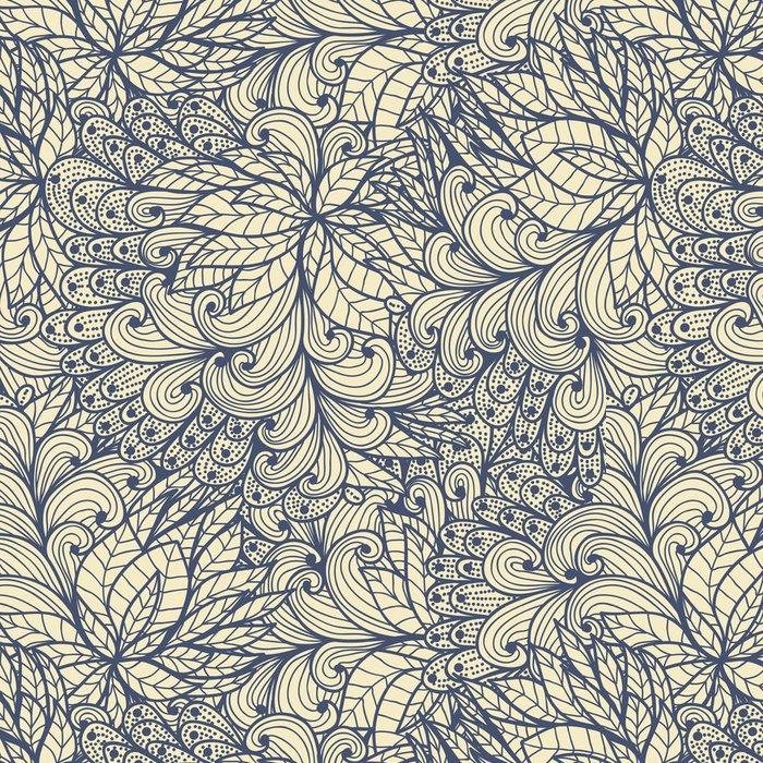Tapeta Pixerstick Bezešvé modrá doodle vzor spirály a spirály - Jiné pocity